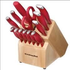 kitchenaid 16 piece stamped derlin knife set with red handles kitchenaid 16 piece stamped derlin knife set with red handles