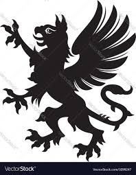 griffin heraldic tattoo royalty free vector image