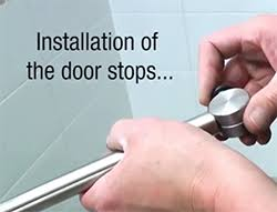 Shower Door Stop Shower Door Installation Ehrmin Company Home Remodeling In