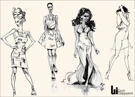 fashion sketches fashion illustrations by igor lukyanov