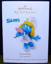 2011 hallmark keepsake tree ornament киндер smurfs