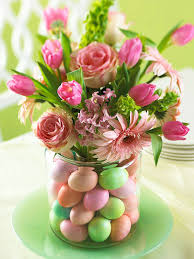 How To Make A Flower Centerpiece Arrangements by Easy Easter Centerpieces And Table Settings Pastel Flowers