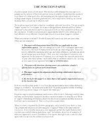 writing a thesis statement for a position paper some myths about
