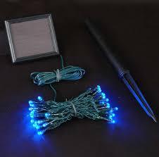 blue solar lights with 50 bulbs novelty lights inc