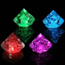 multicolor diamonds flash led luminous ice cube party wedding