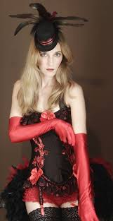 White Corset Halloween Costumes Satin Evening Elbow Length Gloves Opera Style Red Black