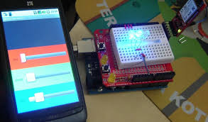 multi color lamp using amarino android and arduino build circuit