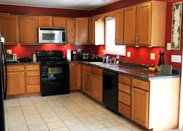 charming best color to paint kitchen with oak cabinets and white