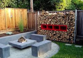 Outdoor Firewood Storage Rack Plans by Easy Diy Outdoor Firewood Rack Design
