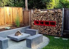 easy diy outdoor firewood rack design
