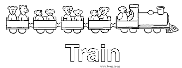 bears coloring pages train