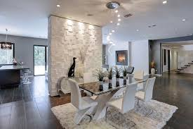 modern dining room ideas modern dining room with travertine tile floors high ceiling