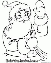 santa coloring pages printable babsmartin babsmartin
