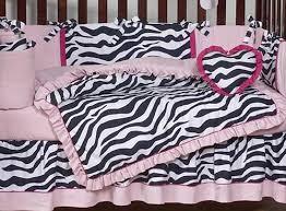 Zebra Print Baby Bedding Crib Sets Pink Black White Funky Zebra Baby Bedding Animal Print Baby
