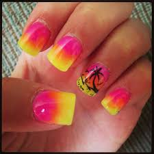 sunset palm trees summer nails nails pinterest palm summer