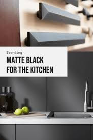 black kitchen cabinets in a small kitchen want in on the matte black kitchen trend 6 ideas to help