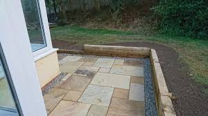 raised decking and patio area cathedral landscape u0026 fencing