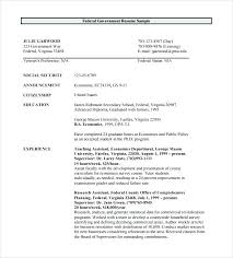 resume exle template government resume sle