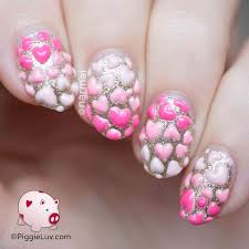 marble no water easy heart shape nail art design youtube heart
