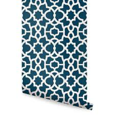 trellis wallpaper white navy peel and stick