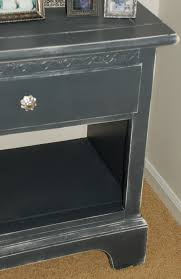 Black Distressed Bedroom Furniture by Thinking I Might Do Dark Gray Over Light Gray On My New Nightstand