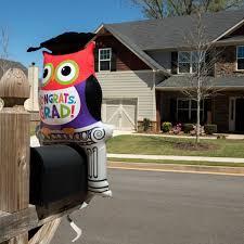 congrats grad owl mailbox balloon graduation party sign u2013 distinctivs