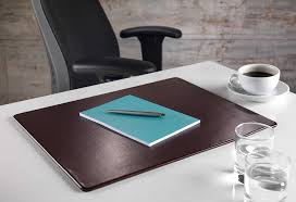 Leather Placemats For Conference Table Brown Bonded Leather Conference Table Pad Luxury Office