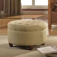 sofa round footstool white ottoman tufted storage ottoman
