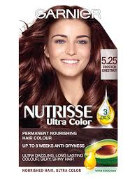 frosted hair color 5 25 frosted chestnut hair dye colour nutrisse garnier