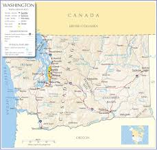 Washington State Road Map by Washington Map Washington State Map Washington State Road Map