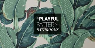 bathroom pattern the playful pattern bathroom trend 3 ways to get inspired kohler