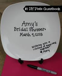 plate guest book top 10 bridal shower decorations