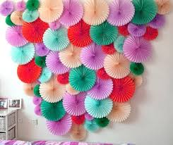 tissue paper fans 4pc 10inch 25cm tissue paper fan honeycomb fan decoration paper