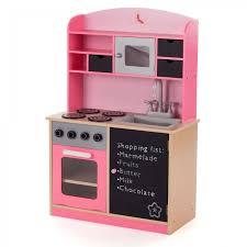spielküche holz baby vivo kinderküche spielküche aus holz mit tafel mila in rosa