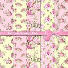 shabby chic wrapping paper roses digital paper delicate shabby chic pink