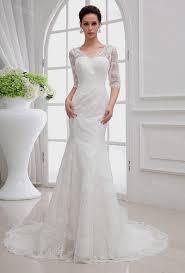 mermaid wedding dress with sleeves naf dresses