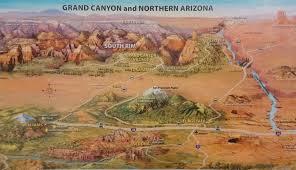 Map Grand Canyon Worldly Traveler U0027s Guide Grand Canyon South Rim Worldly