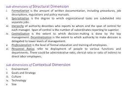 organizational design and change