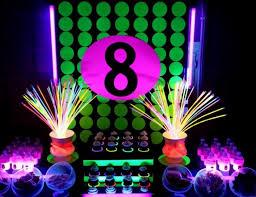 glow in the party neon glow in the birthday carsynne s 8th birthday glow
