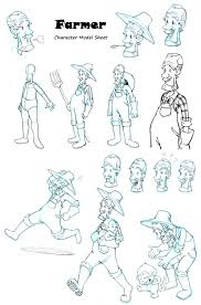 these are farmer character designs for mobile game
