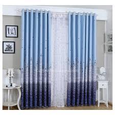 rideau pour chambre a coucher bleu océan style coloré pour enfants la meilleure les stores et