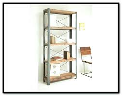 wood and metal bookcase studio caribou wood and metal bookcase