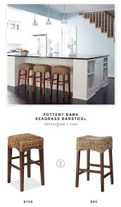 seagrass dining room chairs pottery barn seagrass barstool copycatchic