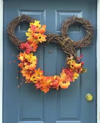 diy u2013 fall mickey wreath wanderings and wonderings disney