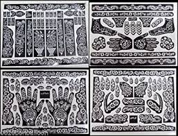amazon com 5 a3 sheets self adhesive decal stencils for henna