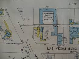 Las Vegas Strip Casino Map by The Strip Las Vegas Motels Then And Now