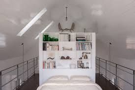 bright bookcase headboard in bedroom rustic with loft bedroom next