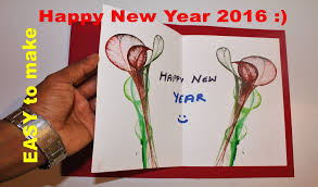new year cards greetings diy how to make a new year greeting card 2017 most easy one