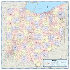 County Map Of Ohio Ohio Counties Wall Map Maps Com