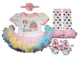 1st birthday tutu aishiony 4pcs baby girl newborn 1st birthday tutu